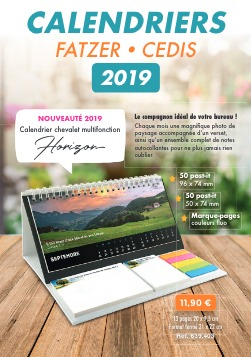 Couverture du catalogue Calendriers 2019